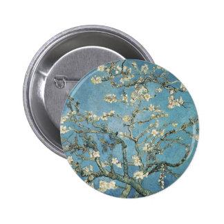 Almond branches in bloom, 1890, Vincent van Gogh 6 Cm Round Badge