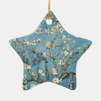 Almond branches in bloom, 1890, Vincent van Gogh Ceramic Star Decoration