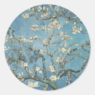 Almond branches in bloom, 1890, Vincent van Gogh Round Sticker