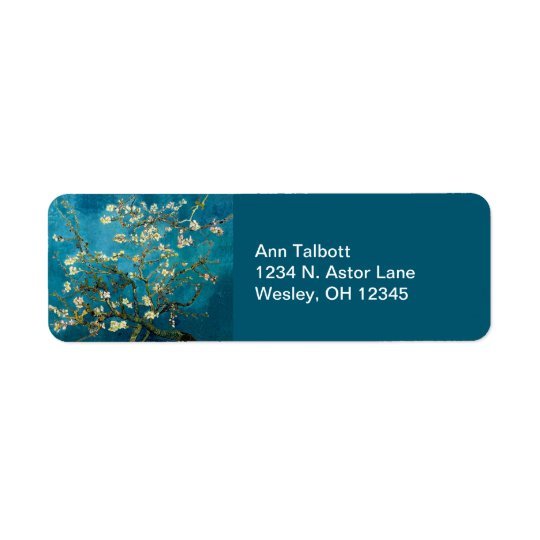 Almond Branches in Bloom Return Address Labels