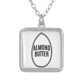 Almond Butter inside an Almond Square Pendant Necklace