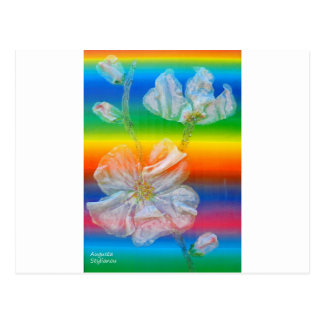 Almond Flower in Spectrum Postcard