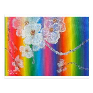 Almond Flowers in Spectrum Postcard