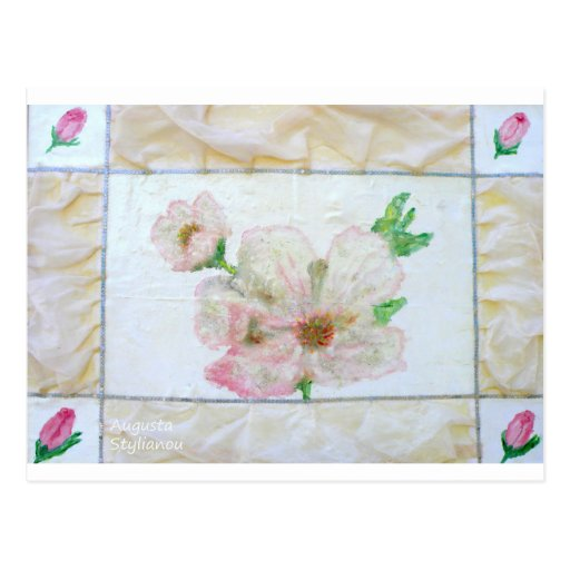 Almond Flowr and Rose Buds Postcards