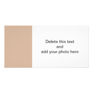 Almond High End Solid Color Picture Card