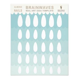 Almond Nail Art Template Brainwaves 11.5 Cm X 14 Cm Flyer