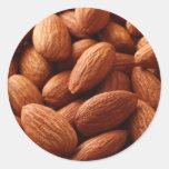 Almond Round Sticker