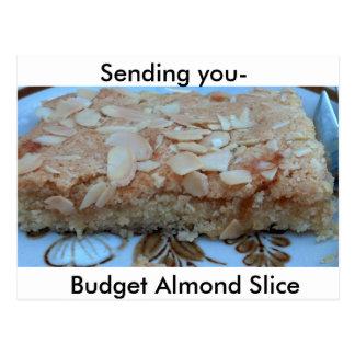 Almond Slice Recipe Postcard Post Cards