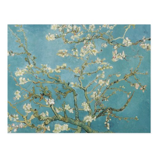 Almond tree in blossom by Vincent Van Gogh Postcards