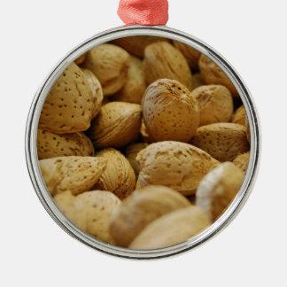 Almonds Silver-Colored Round Decoration