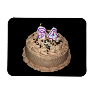 Almost 64 64th Birthday Cake Photo Magnet