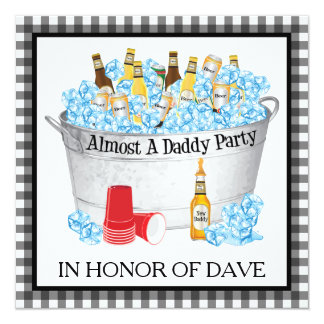 Almost a Daddy Baby Shower Beer Party 13 Cm X 13 Cm Square Invitation Card