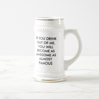 "ALMOST FAMOUS ""DRINK 2 ROCK"" STEIN MUGS"