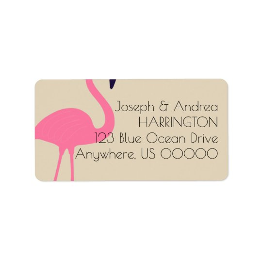 Almost Flamingo Return Address Label