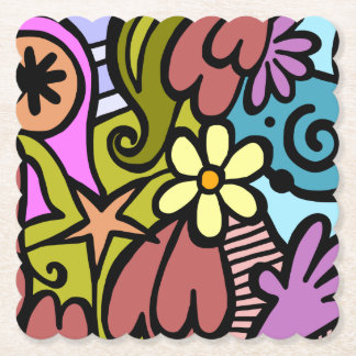Almost Picasso Abstract Modern Art Paper Coaster