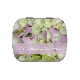 Almost Pink Hydrangea Bridal Shower Favor Candy Tin