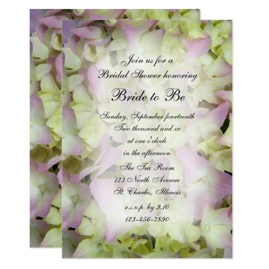 Almost Pink Hydrangea Bridal Shower Invitation