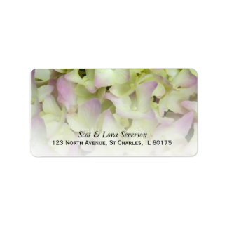 Almost Pink Hydrangea Floral Return Address Label