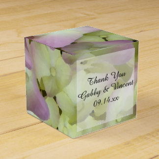 Almost Pink Hydrangea Floral Wedding Favour Box