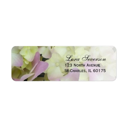 Almost Pink Hydrangea Return Address