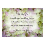 Almost Pink Hydrangea Wedding Charity Favour Card Pack Of Chubby Business Cards