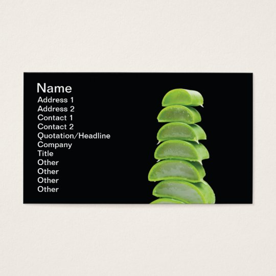 Alo Vera slices Business Card