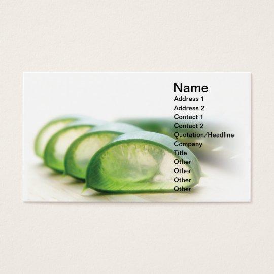 Aloe cut business card