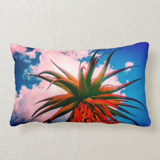 Aloe Succulent Plant Sky Clouds Throw Pillow