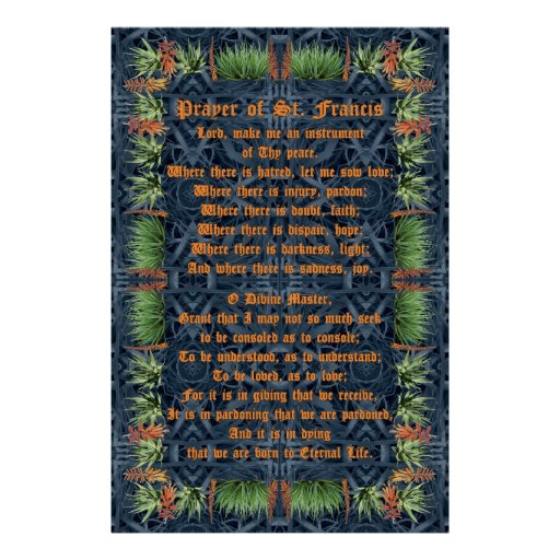 Aloe Vera Border with Prayer of St Francis