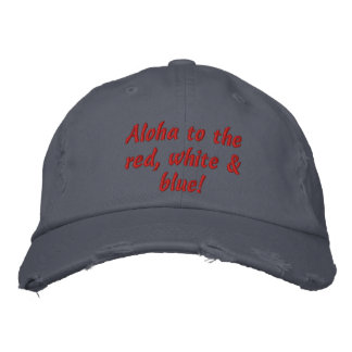 Aloha 4th of July Hat Embroidered Cap