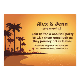"Aloha 5"" x 7"", Standard white envelopes included Card"