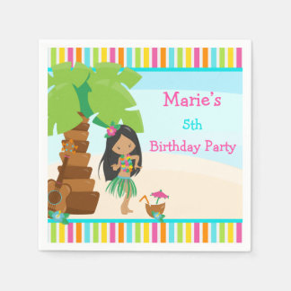 Aloha African American Girl Party Disposable Serviette