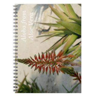 Aloha Aloe Vera Plant Photo Notebook