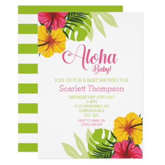 Aloha Baby Shower, Luau Invitation