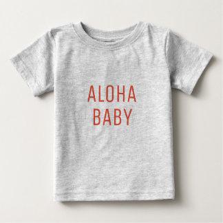 Aloha Baby Text Design Baby T-Shirt