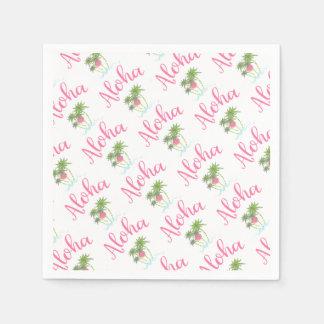 Aloha-Beaches Hawaiian Style Party Cool Paper Napkin