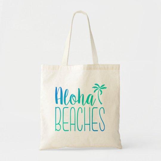 Aloha Beaches | Turquoise Ombre Tote Bag
