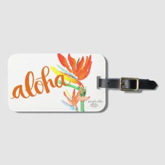 Aloha Bird of Paradise Luggage / Bag Tags - Orange