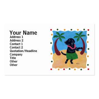 Aloha Black Labrador dots Business Card Templates