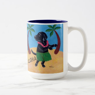 Aloha Black Labrador Coffee Mug