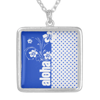 Aloha Blue Polka Dots Custom Jewelry
