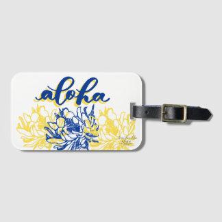 Aloha Blue Yellow Cereus Luggage Tags
