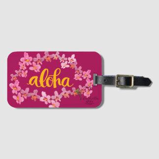 Aloha Bold Orchid Lei Bag Tag - Fuschia