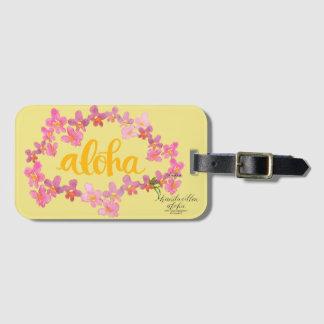Aloha Bold Orchid Lei Bag Tag - Yellow