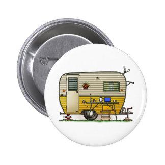 Aloha Camper Trailer 6 Cm Round Badge