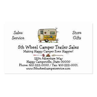 Aloha Camper Trailer M Pack Of Standard Business Cards