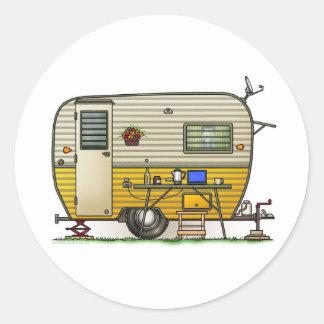 Aloha Camper Trailer Round Sticker
