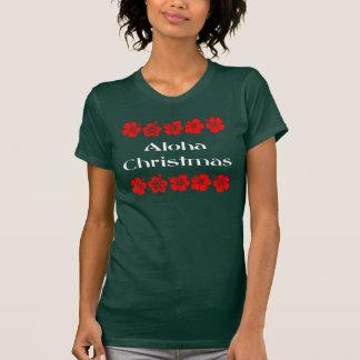 Aloha Christmas Red Hibiscus Hawaiian T-Shirt