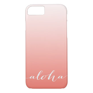 Aloha Coral Gradient Ombre iPhone 7 Case