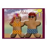 Aloha Gingerbread Men Greeting Card